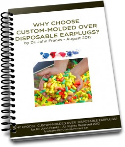 spiral binderCustom molded vs disposable earplugs